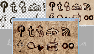 Sketchy Social Media Icons - Preview by beyourpet