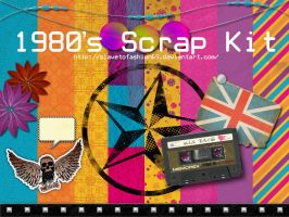 80's Scrap Kit by slavetofashion69