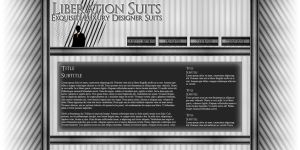 Liberation Suits Website by Garsondee