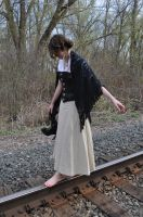 Steampunk Random Stock: Barefoot and Tracks V by kndrwllmsn