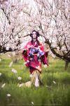 Chizuru Yukimura - Cherry rain by RomaiLee