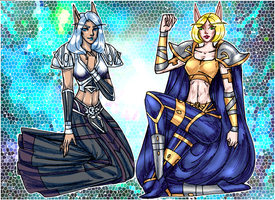 Mosaic Pair 2 for Casca7 by justinedarkchylde