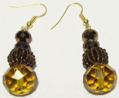 classy brown earrings by AnaInTheStars
