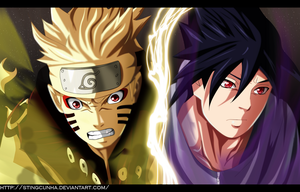 Naruto 649 - Naruto and Sasuke by StingCunha