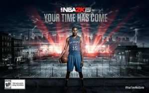 Kevin Durant NBA 2K15 Cover Star Wallpaper by ThexRealxBanks