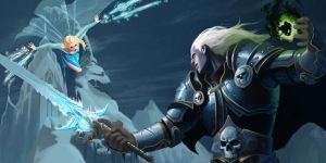 Elsa vs Arthas by Unn89