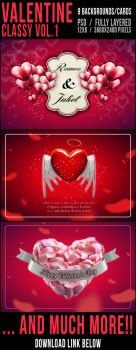 Valentine Backgrounds/Cards Classy Vol. 1 by elisamaggit