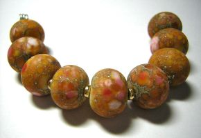 Etched Lampwork Pink Frit by eerok1955