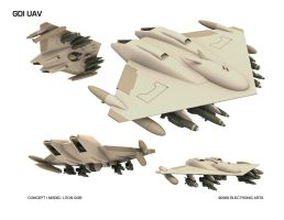 GDI UAV by HeavyMetalDesigner