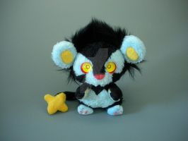 Fuzzy Chibi Luxray by WhittyKitty