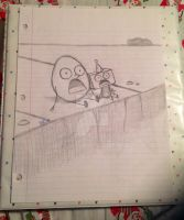 Shocked eggman and boxhead kid..... by Chickie456