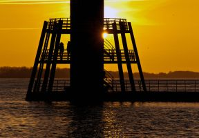 Sunset Hamburg Blankenese by sandor99