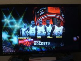 NBA2K11 Huston rockets starting linup by werewolf85