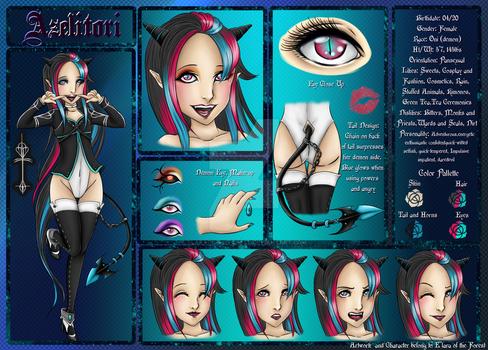 Azelitori Official 2013 Reference Sheet by ElaraOfTheForest