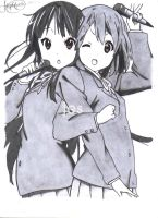 Mio and Yui by Jes221