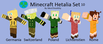 APH: Hetalia Minecraft Skin Set 10 by SilentTimeKitty