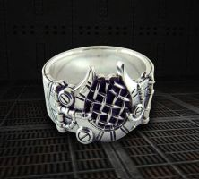 Broken Hatch Ring by gamerjewelry