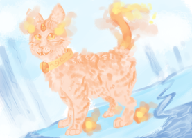 Fire Cat by FeatheredSoap