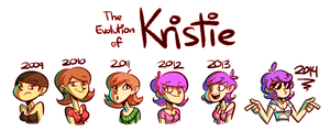 Kristie over the years by GusDraws