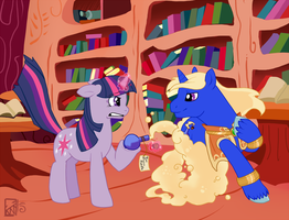 Twilight Sparkle and the Bottle of Thunder by AuldMisdione