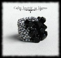 Touch of silver with onyx by Cayca