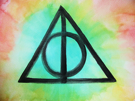 Deathly Hallows Water Color by lindsaaaay
