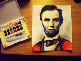 Watercolor Lincoln by ericmalcolmthompson