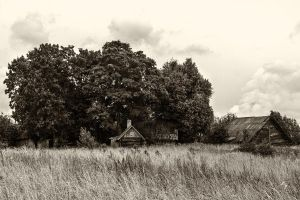 Old field houses by MrFotkerman