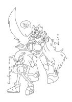 Zero and Sonic (thank you gift) by shatishamararie
