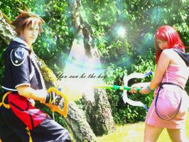 Cosplay: Sora and Kairi: You can be the key by Jake-Peter-Pan