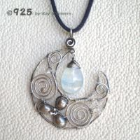 ++SOLD++ Winter Moon Pendant by popnicute