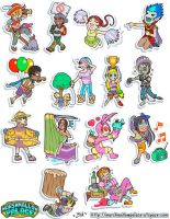 Vector Characters Sticker Commision by baby-marshmallow