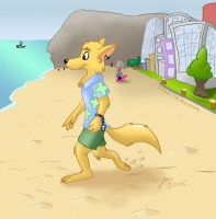 Steve on the Beach - Color by rodrev