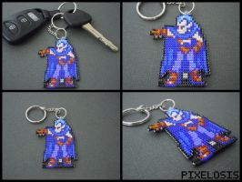 Handmade Seed Bead Magus Keychain by Pixelosis