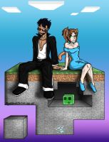 CaptainSparklez n' JakIIFan .:Commission:. finish by MidNight-Vixen