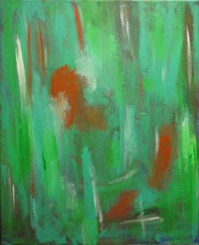 Abstract in Green by burninghealz