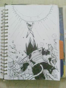 Inktober Challange day 4: The Famous Battle by deena-chan