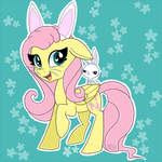 [COMMISSION] Fluttershy and Angel Bunny + SP by partylikeapegasister