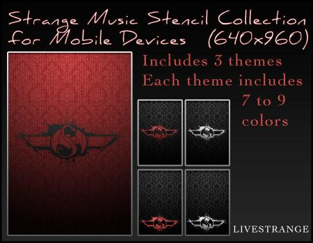 Strange Music Stencil Collection for Mobile Device by Tibneo