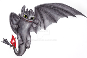 Toothless by KhaliaArt