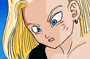 Android 18 Looking Shocked by bbslugger