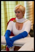 Powergirl - Super Smirk by Kuragiman