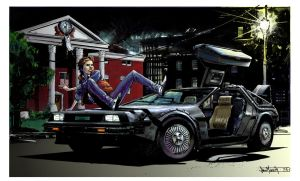 COLORS:Delorean Pinup By Seangordonmurphy by Tadpole7