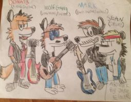 WolfGang and the Pack by WolfGang-Jake