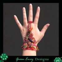 Red Lacewing worn by green-envy-designs
