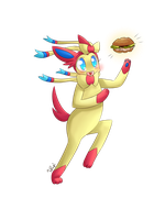 Sylveon Found a Sandwich! by honrupi
