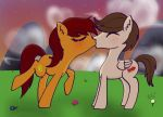 Evergreen and Amber sun set kiss by Dr-Morgan47