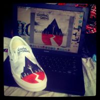 Sleeping with sirens shoes by MonteyRoo