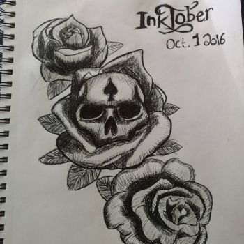first day of #inktober are you participating!? by Famishedspade
