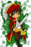 APH- Chibi Pirate Spain by Yachiru-RinRin